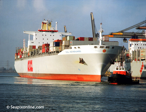 OOCL Netherlands, Flying Kestrel, Arion 9143075 ID 608