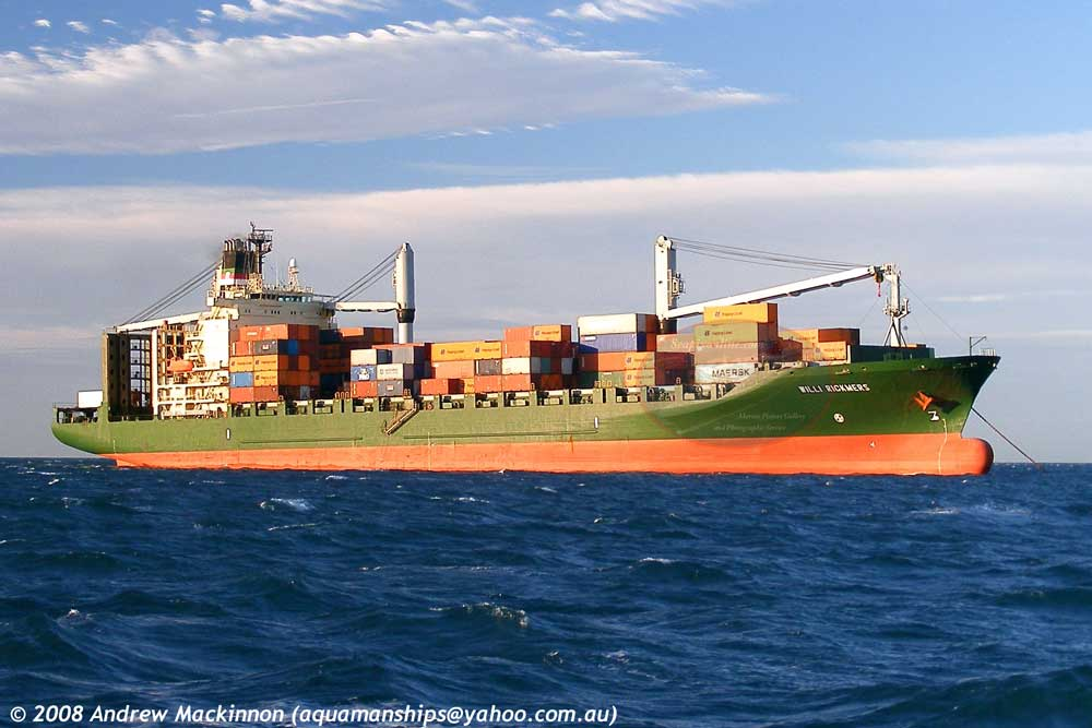 Willi Rickmers, Sea Puma, Crowley Lion 9160413 ID 4898