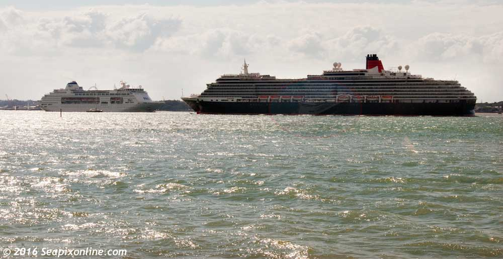 Queen Victoria, Pacific Pearl, Ocean village, Aracdia, Star Princess, Sitmar Fairmajesty, Columbus 9320556, 8611398 ID 10369
